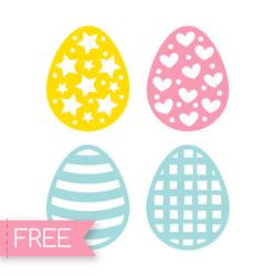 Easter eggs Free Cricut SVG cut file