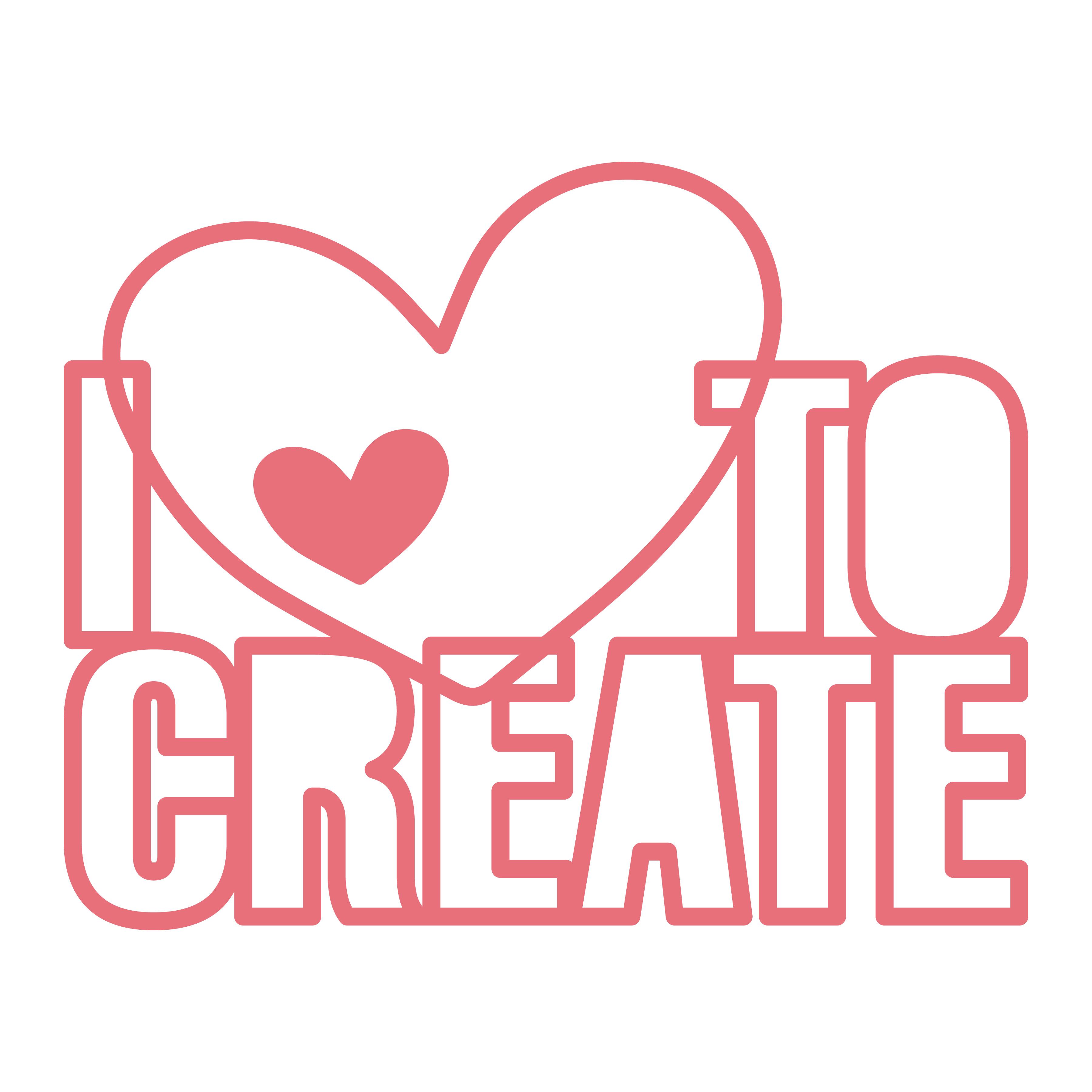 I love to create_Free svg cut file