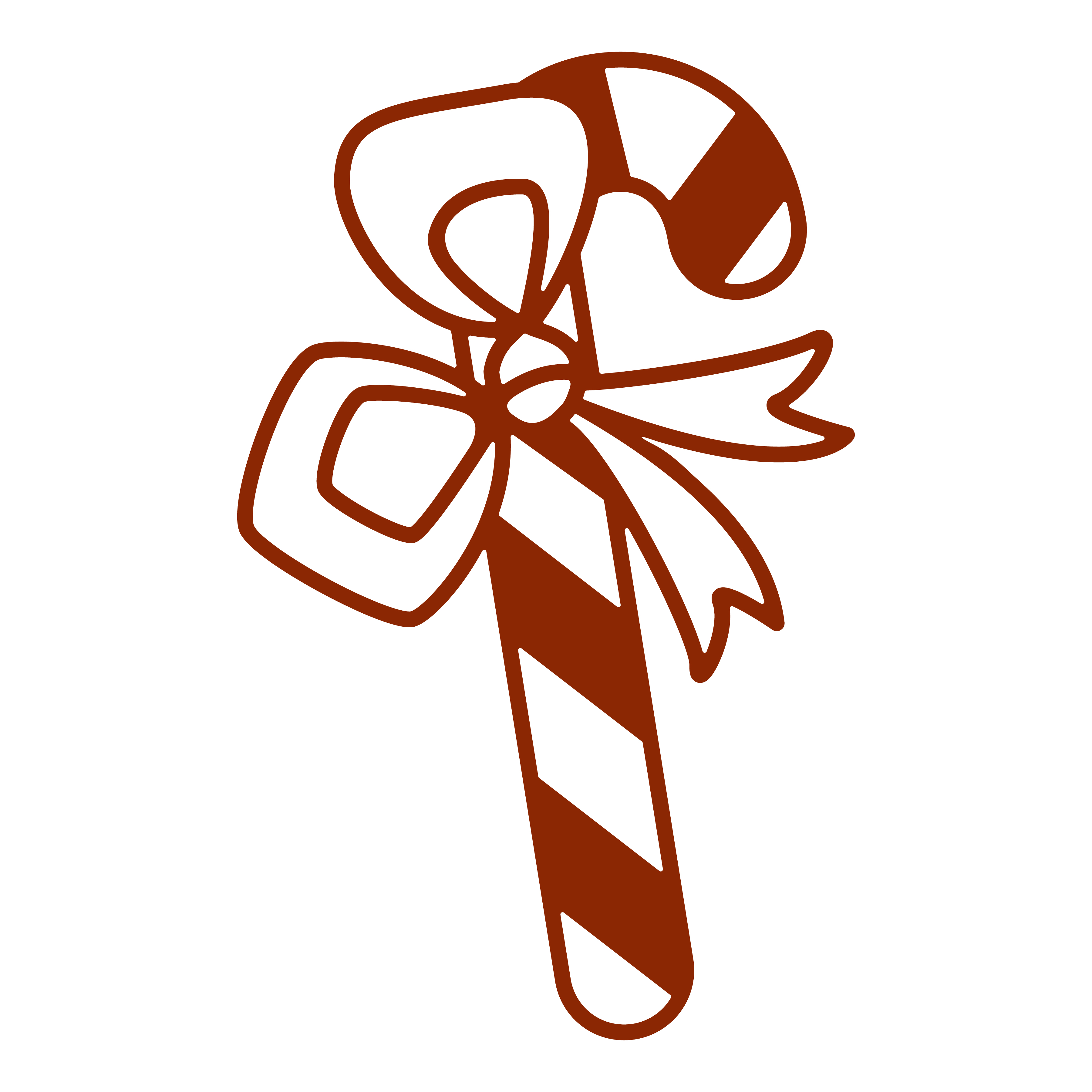 CHRISTMAS LONG CANDY FREE SVG