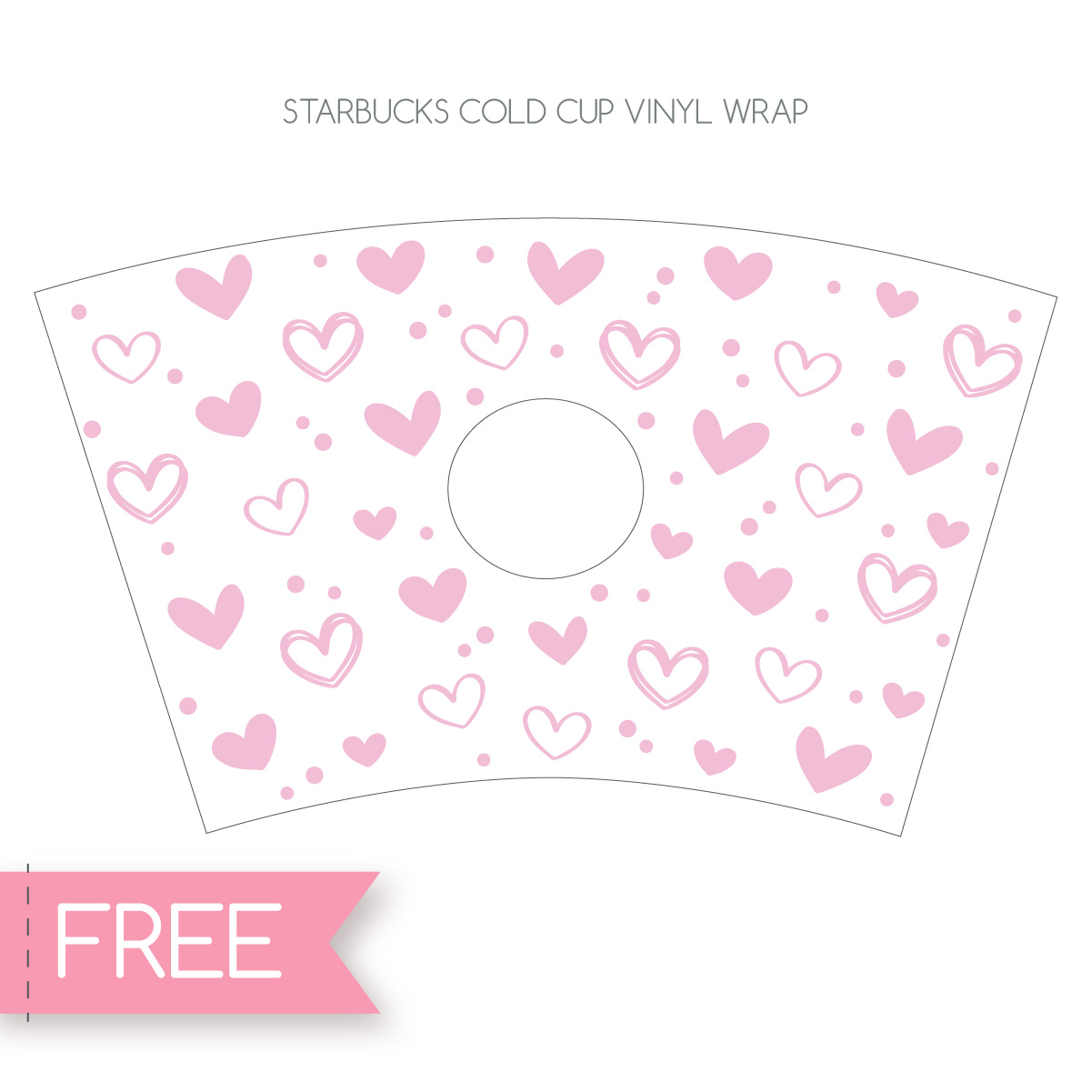 Starbucks cup full wrap Cricut SVG cut file