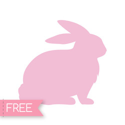 Easter Bunny Free Cricut SVG cut file