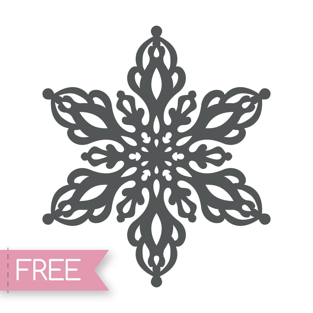 Snowflake free Cricut svg cut file
