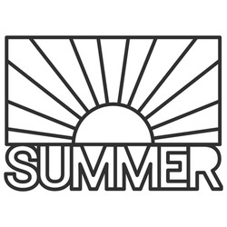 Free SVG - Summer Sun