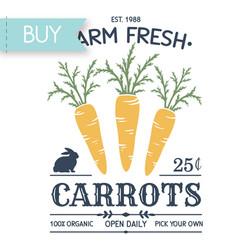 Carrot Farm Fresh Easter poster Cricut SVG cut file