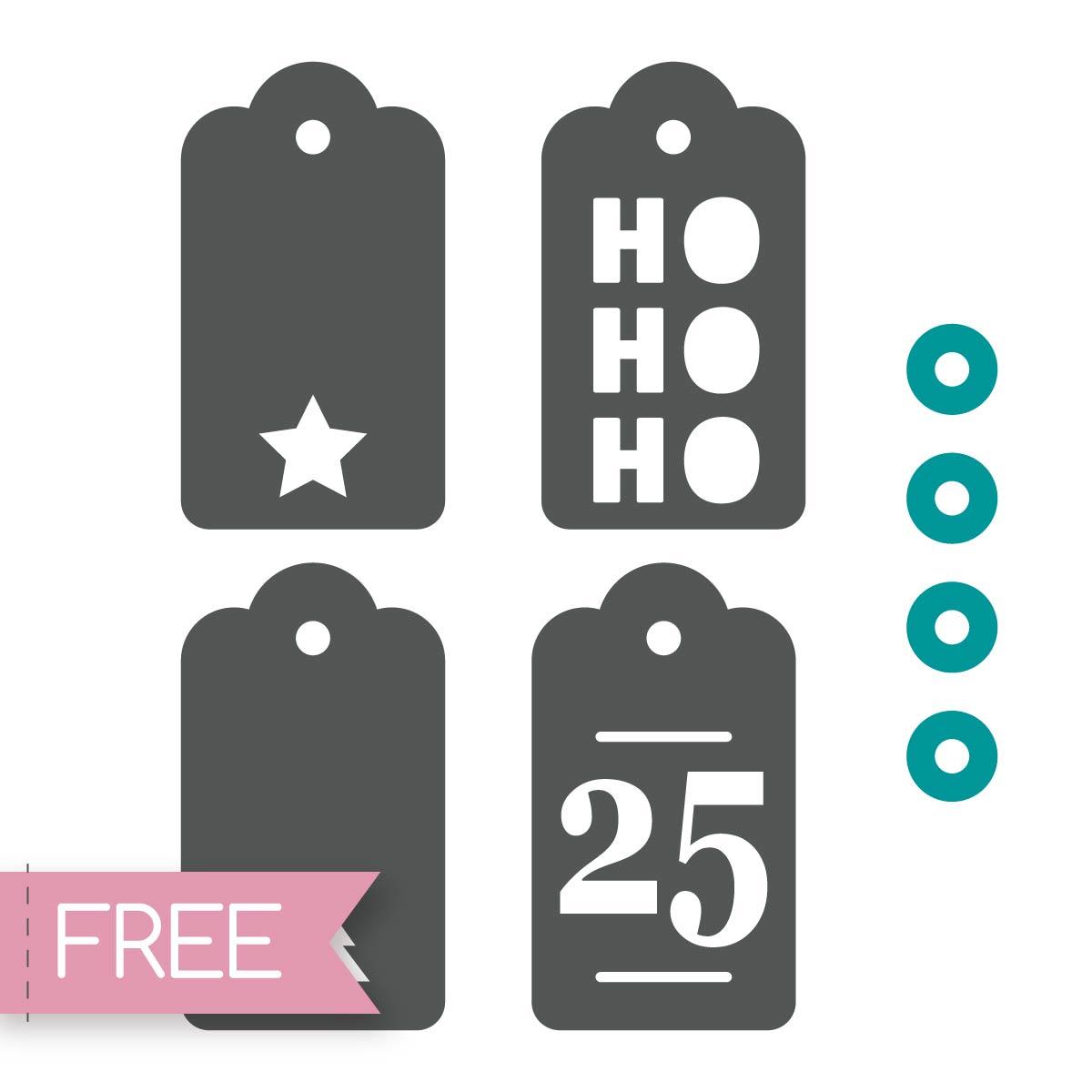 Free Cricut SVG gift tags