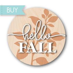 Hello Fall Laser decor svg, Fall Door Hanger svg