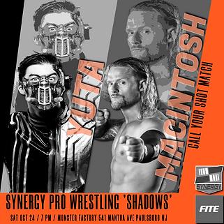 Wheeler Yuta vs Matt Macintosh Synergy Pro Wrestling 10/24
