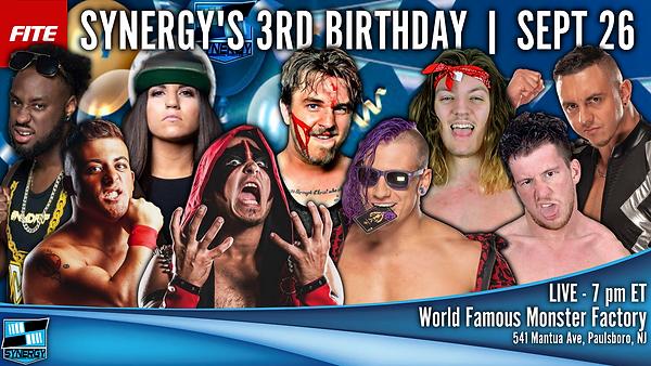 Watch Synergy Wrestling's 3rd Birthday Online