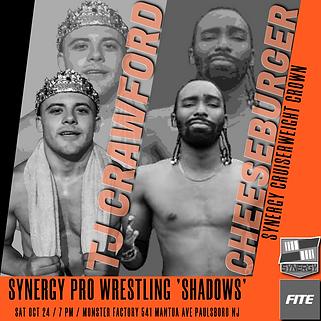 TJ Crawford vs Cheeseburger Synergy Pro Wrestling 10/24
