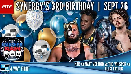 KTB v Matt Vertigo v Ellis Taylor v The Whisper Synergy Pro Wrestling