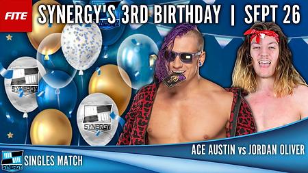 Ace Austin vs Jordan Oliver Synergy Pro Wrestling FITE