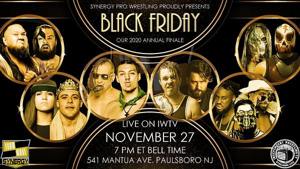 Watch Synergy Pro Wrestling Black Friday 2020 Online