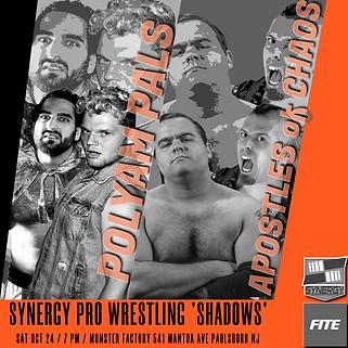 PolyAm MV Young Anthony Gangone vs Apostles of Chaos Synergy Pro Wrestling 10/24