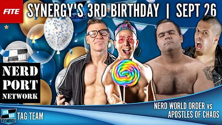 Nerd World Order Synergy Wrestling FITE