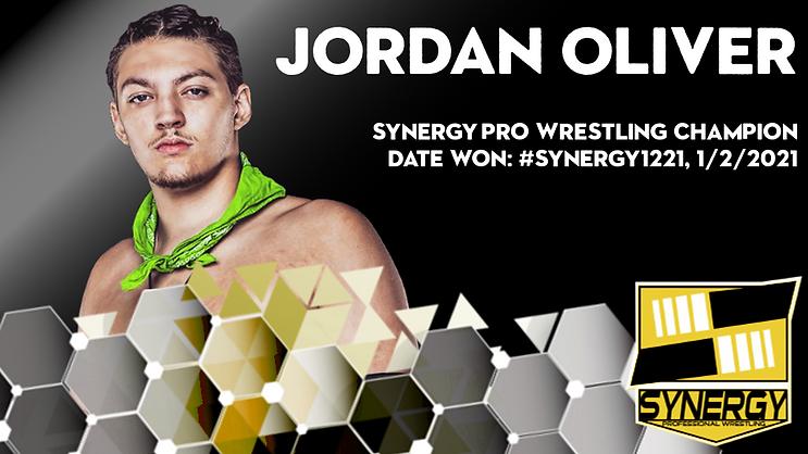 Synergy Pro Wrestling Champion Jordan Oliver