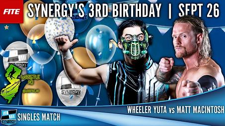 Synergy Pro Wrestling Matt Macintosh Wheeler Yuta