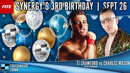 TJ Crawford Charles Mason Synergy Wrestling FITE Cruiserweight Crown