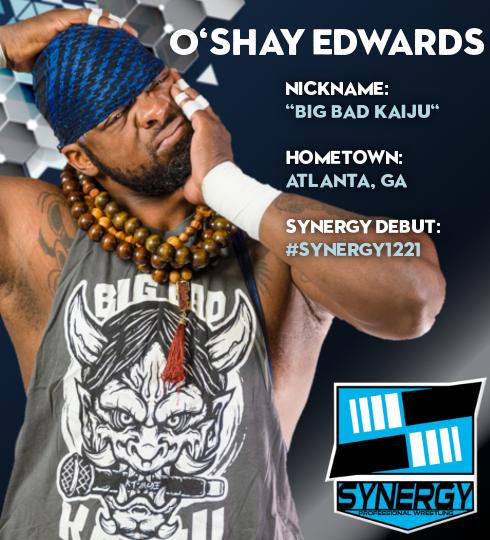 Synergy Pro Wrestling Roster: O'Shay Edwards