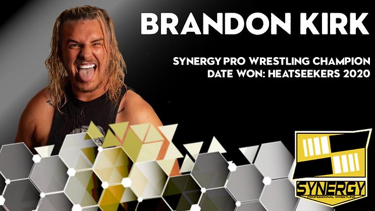 Synergy Pro Wrestling Champion Brandon Kirk