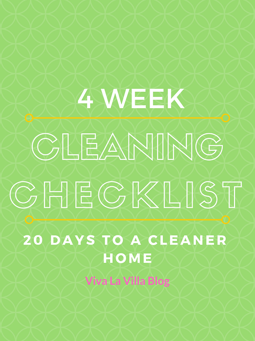 4 Week Cleaning Checklist