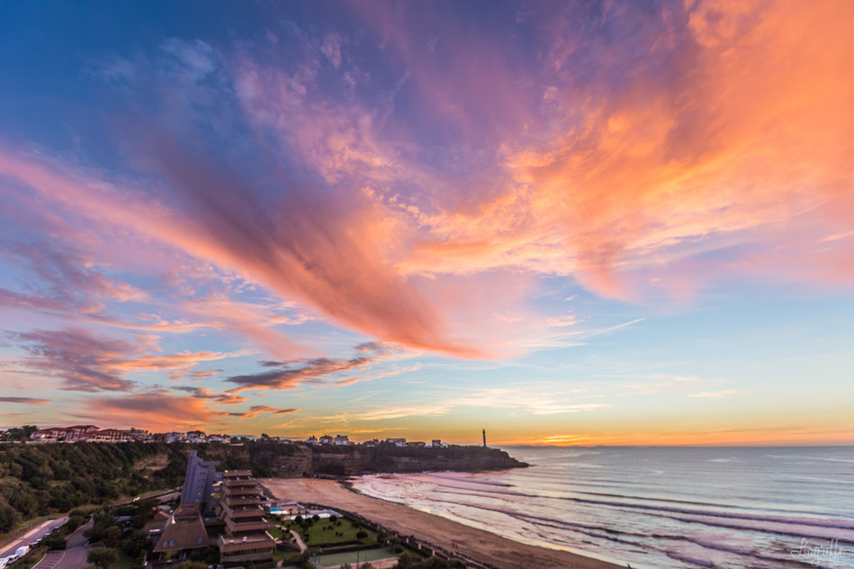 Amazing sunset Anglet