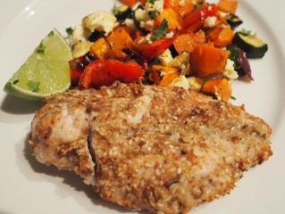 Dukkah Chicken with Roast Vegetables & Fetta Cheese