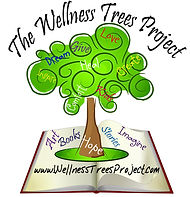 Wellness Trees Project Logo for orignal art and story books for children with disabilites and illness.