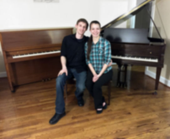Owners of AMO Pianos Matthew and Alexandra