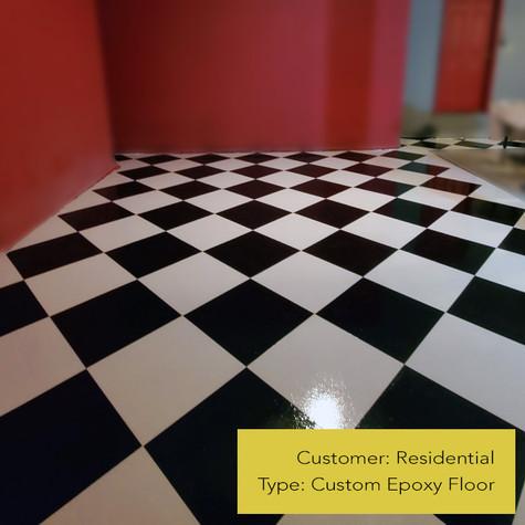 Chessboard Epoxy Floor