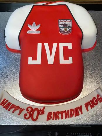 a football inspired 30th birthday cake