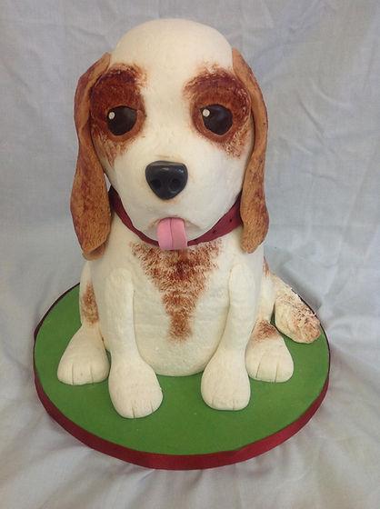 a dog shaped cake