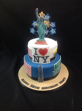 an I love New York 50th birthday cake