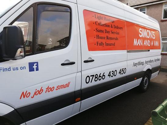 simons man and a van vehicle shot