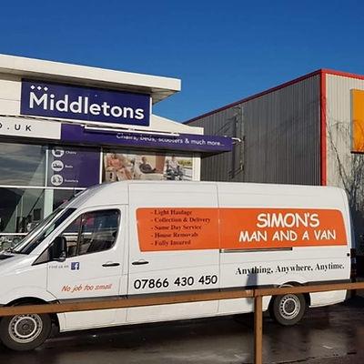 simons man and a van vehicle