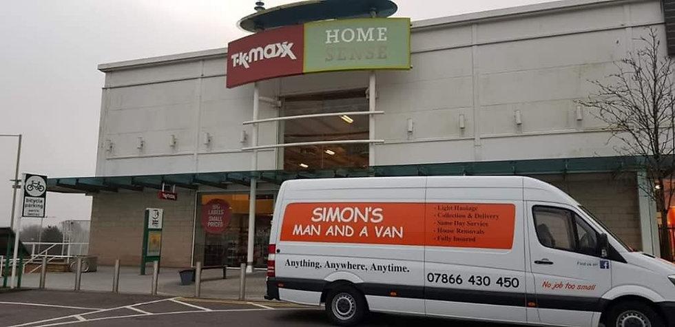 simons man and a van vehicle outside TK Maxx.jpg