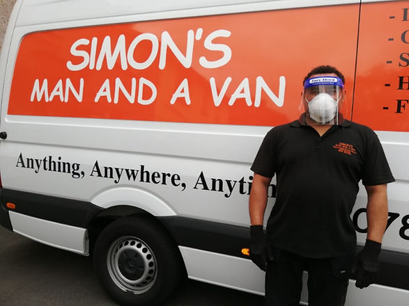 Simons Man And A Van staff in PPE