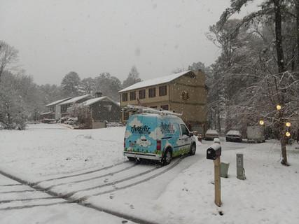 Snow repair day