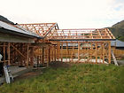 framing complete on arthurs point home build