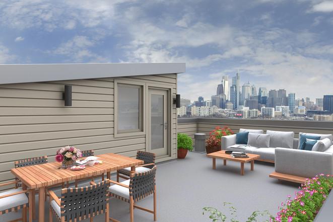 Rooftop deck*