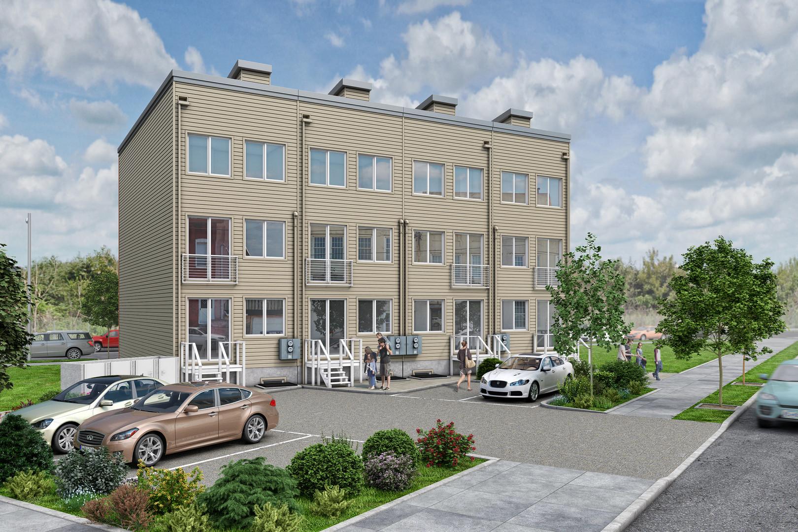 Westview Homes back side rendering*