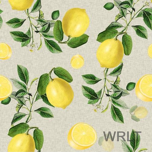 Long Sleeve Lounge Top - Vintage Lemons