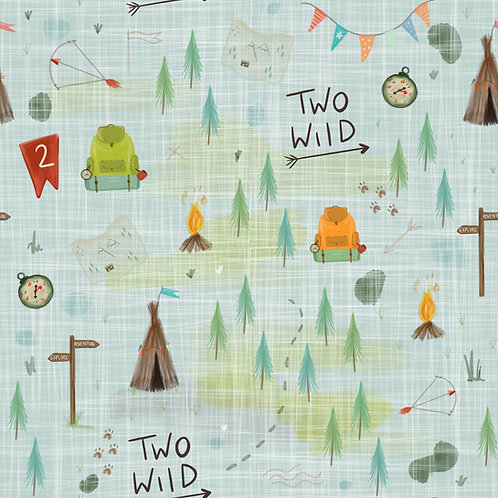 Dungarees - Two Wild Birthday Print