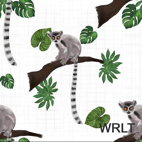 Large Blanket - Leaping Lemurs