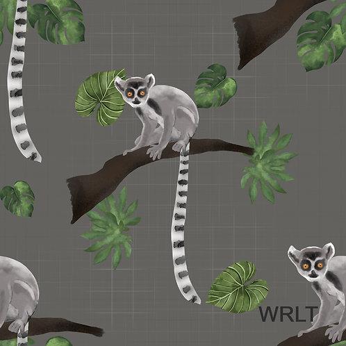 Pinafore Dress - Leaping Lemurs