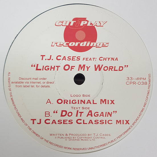 T.J. Cases - Do It Again Classic Mix / Light Of My Worlds