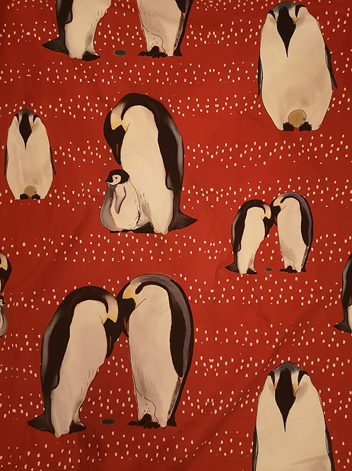 Large Blanket - Large Red Peguin Perfection