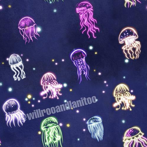 Neon Jellyfish Long Sleeve Lounge Top