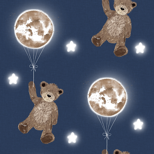 Dungarees - Fly High Midnight Bear