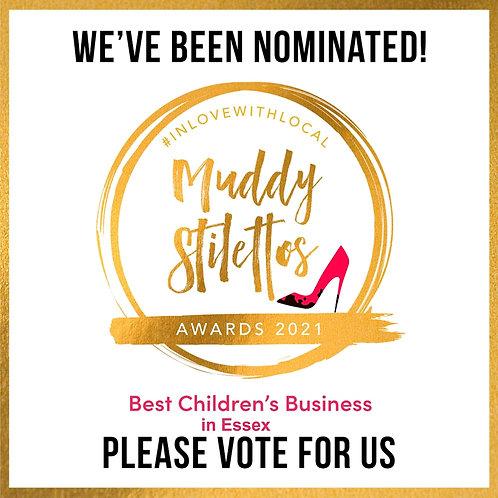 Muddy Stilettos BEST CHILDREN'S BUSINESS IN ESSEX Please vote for us