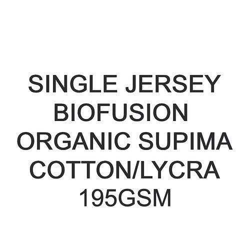 11+  Metres PYO Organic Biofusion Supima Cotton Lycra Jersey 195gsm £20p/m